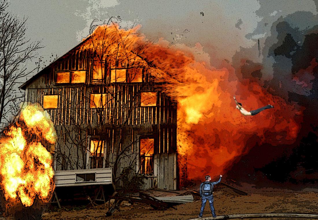 This is a picture of Bright Burning House Drawing
